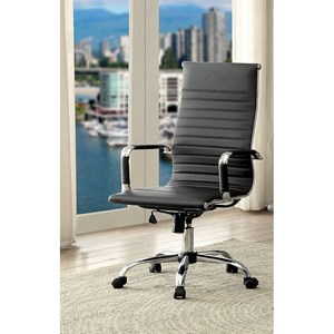 Contemporary High Back Office Chair with Casters