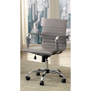 Contemporary Low Back Office Chair with Casters