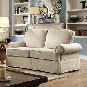 Casual Skirted Loveseat