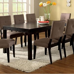 "76"" Rectangular Dining Table with 1 Table Extension Leaf"
