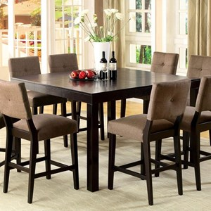 Square Counter Height Table with 1 Table Extension Leaf