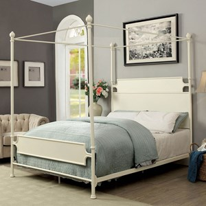 Transitional California King Canopy Bed