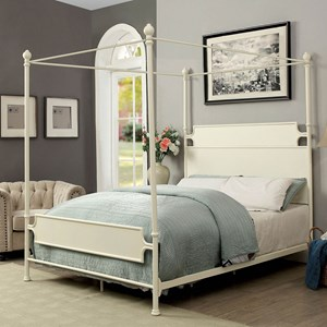 Transitional Queen Canopy Bed