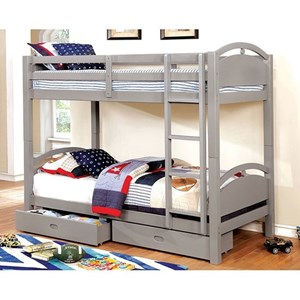 Twin over Twin Bunk Bed with Storage Drawers