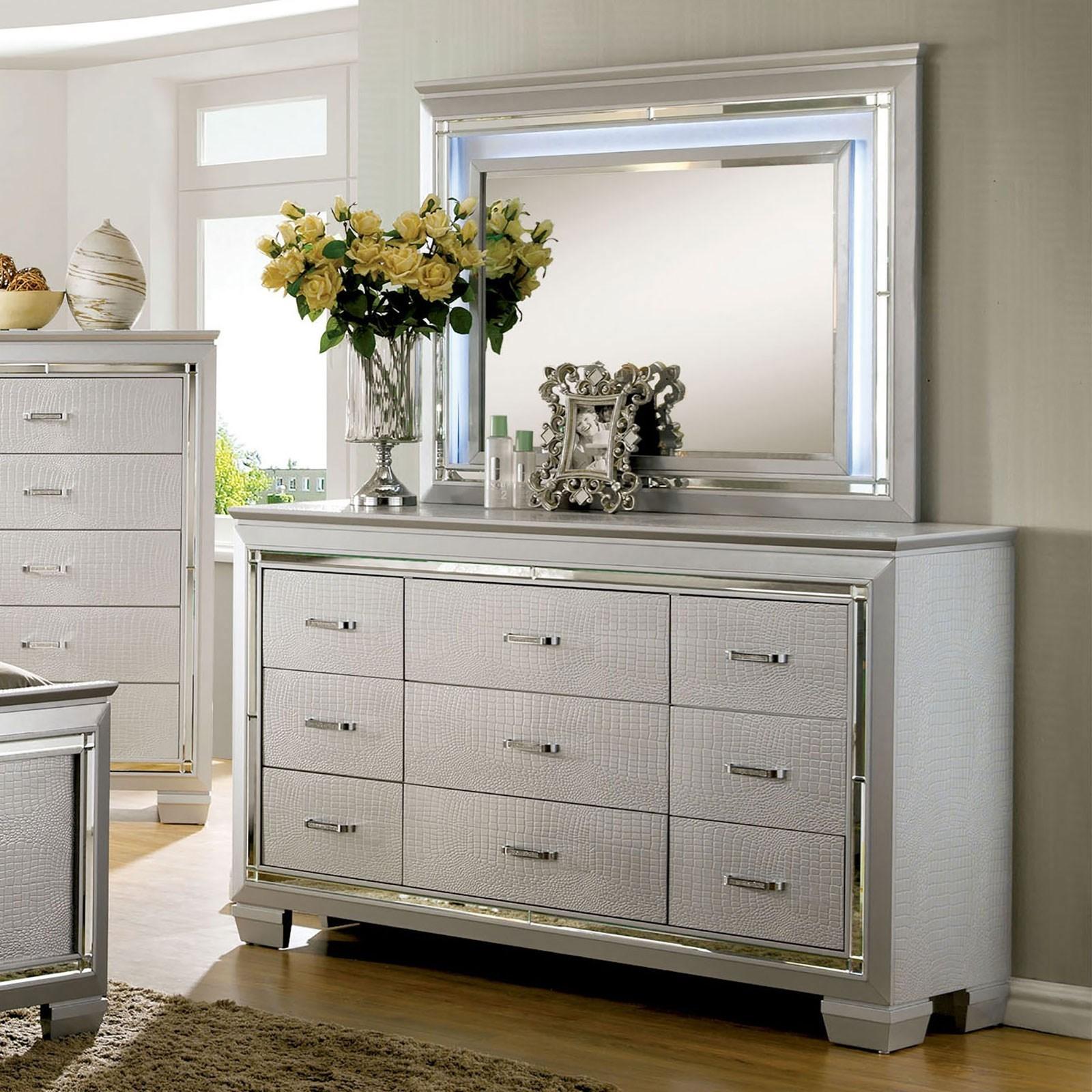 Bellanova Dresser + Mirror Set at Household Furniture