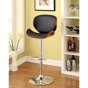 Contemporary Height Adjustable Swivel Bar Stool