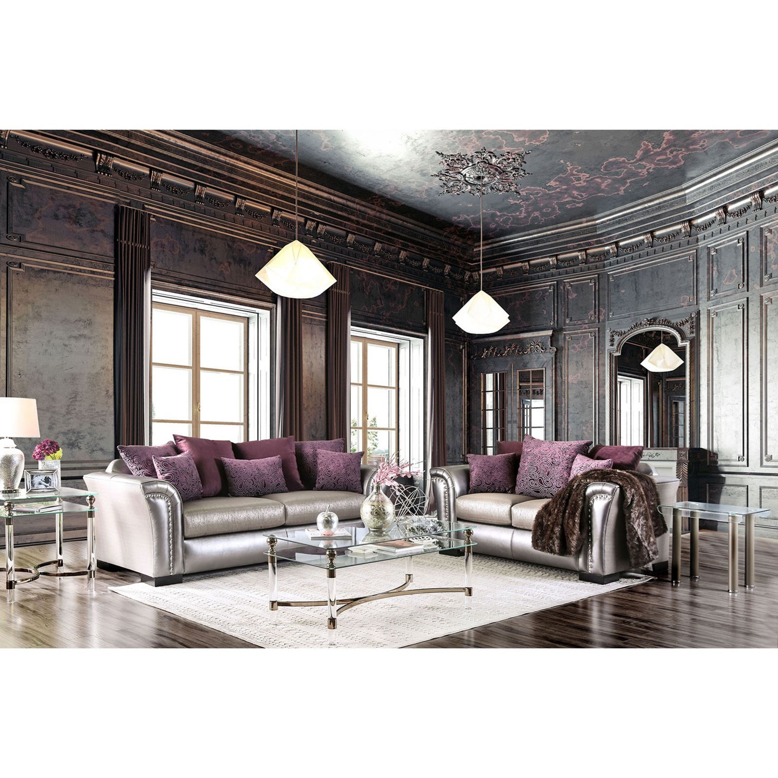 Benigno Living Room Group by Furniture of America at Nassau Furniture and Mattress
