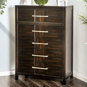Transitional 5 Drawer Chest