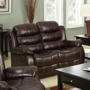 Loveseat with Pillow Arms and Padded Headrest