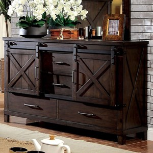 Rustic Dresser with Sliding Barn Doors