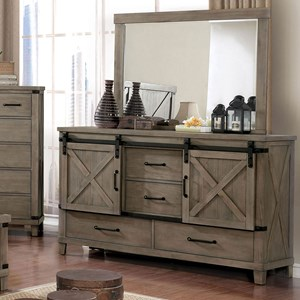Rustic Dresser with Sliding Barn Doors