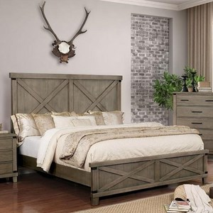 Rustic King Bed with Barndoor Panels