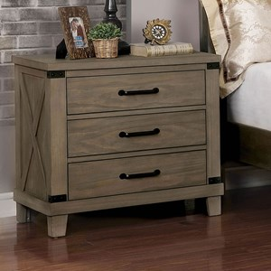 Rustic Nightstand with Felt-Lined Drawer