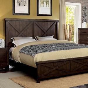 Rustic Queen Bed with Barndoor Panels