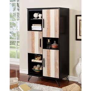 Transitional Pier Cabinet with 8 Shelves
