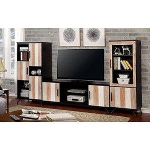 Transitional Wall Unit with 16 Shelves