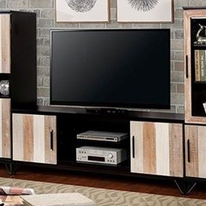 "Transitional 72"" TV Stand with 4 Shelves"