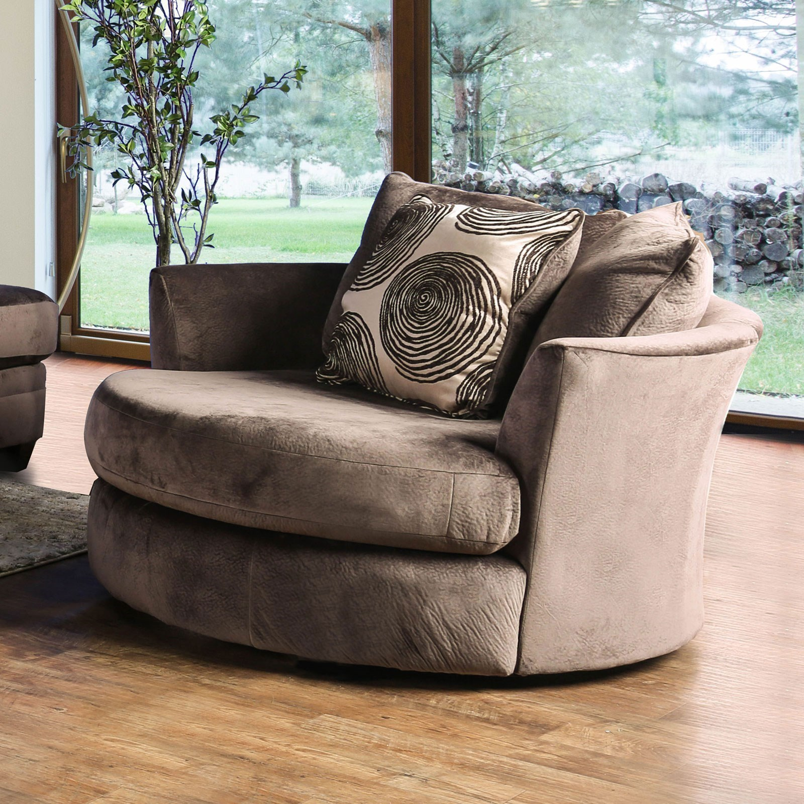 Bonaventura Swivel Chair by Furniture of America at Dream Home Interiors