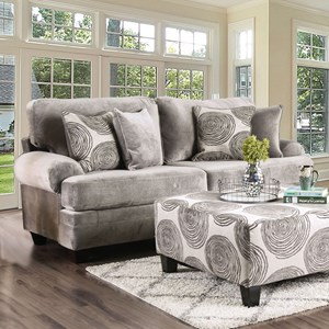 Traditional 2-Seater Sofa with Rolled Arms
