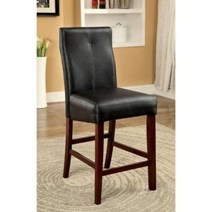 Set of 2 Contemporary Counter Height Upholstered Chairs