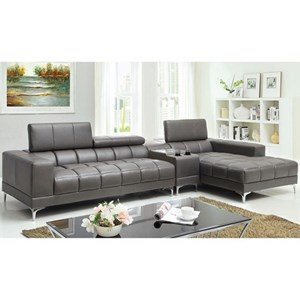 Sectional with Speaker Console and Chaise