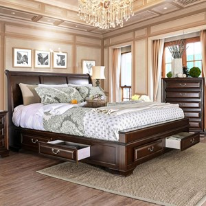 Transitional King Bed