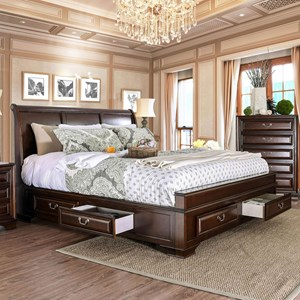 Transitional Queen Bed
