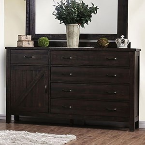 Transitional 5-Drawer Dresser with Interior Shelving and Felt-Lined Top Drawers