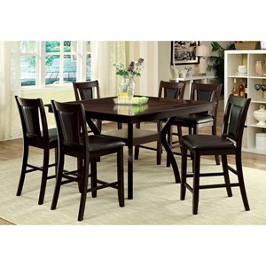 Contemporary 7 Pc Counter Height Dining Set
