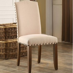 Set of Two Side Chairs with Nailhead Trim