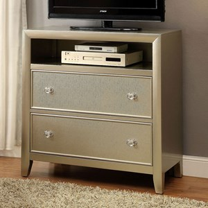 Glam Two Drawer Media Chest