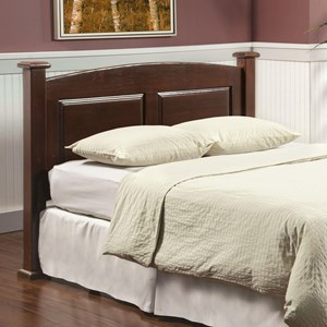 Twin Size Arched Panel Headboard in Dark Cherry Finish