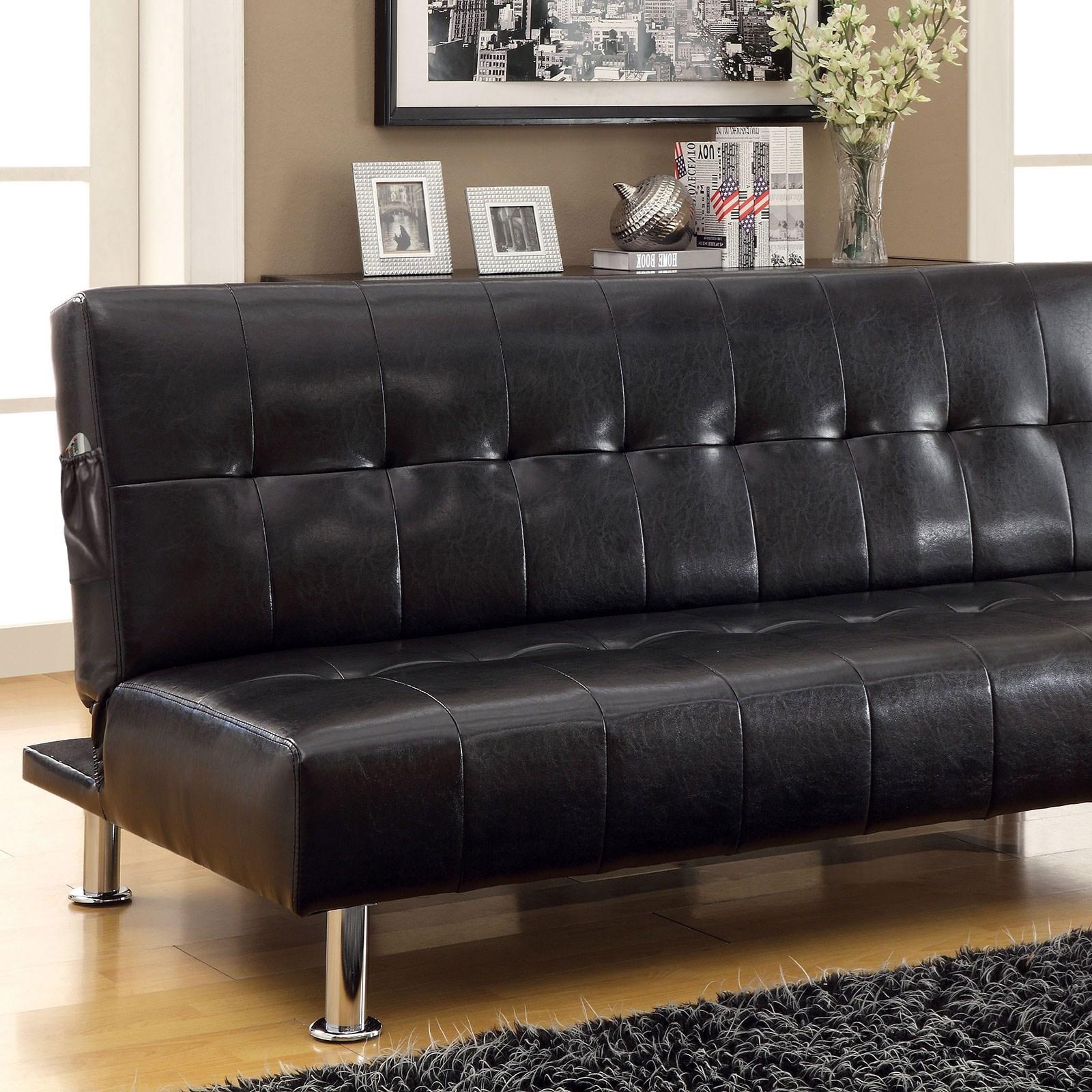 Furniture of America   FOA Bulle CM2669P BK Leatherette ...