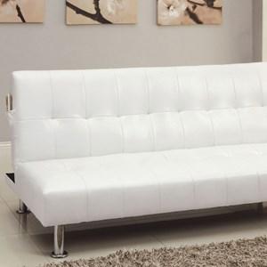Leatherette Futon Sofa