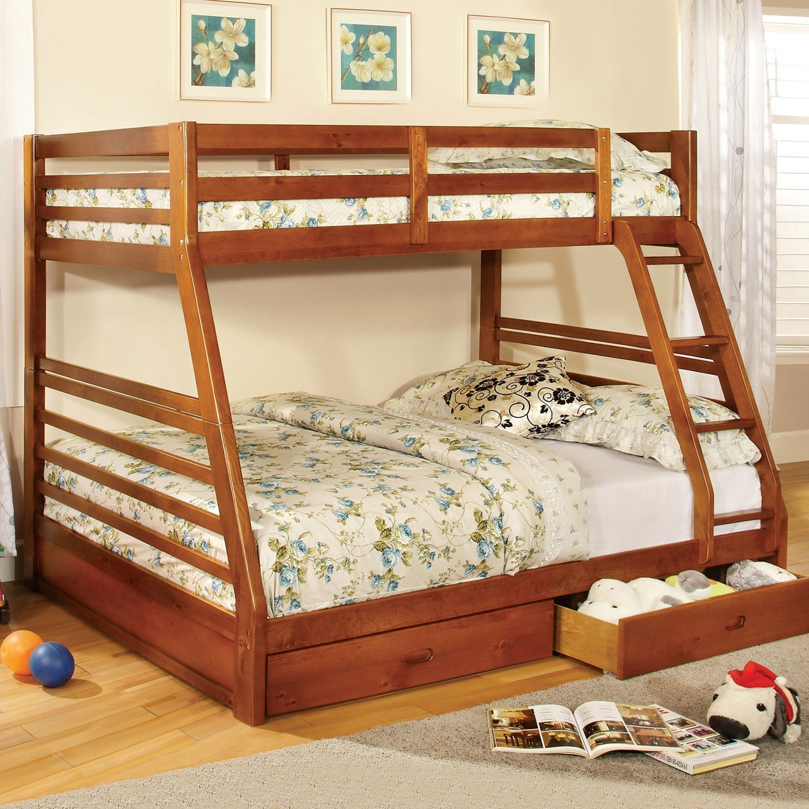California III Twin-over-Full Bunk Bed with 2 Drawers at Household Furniture