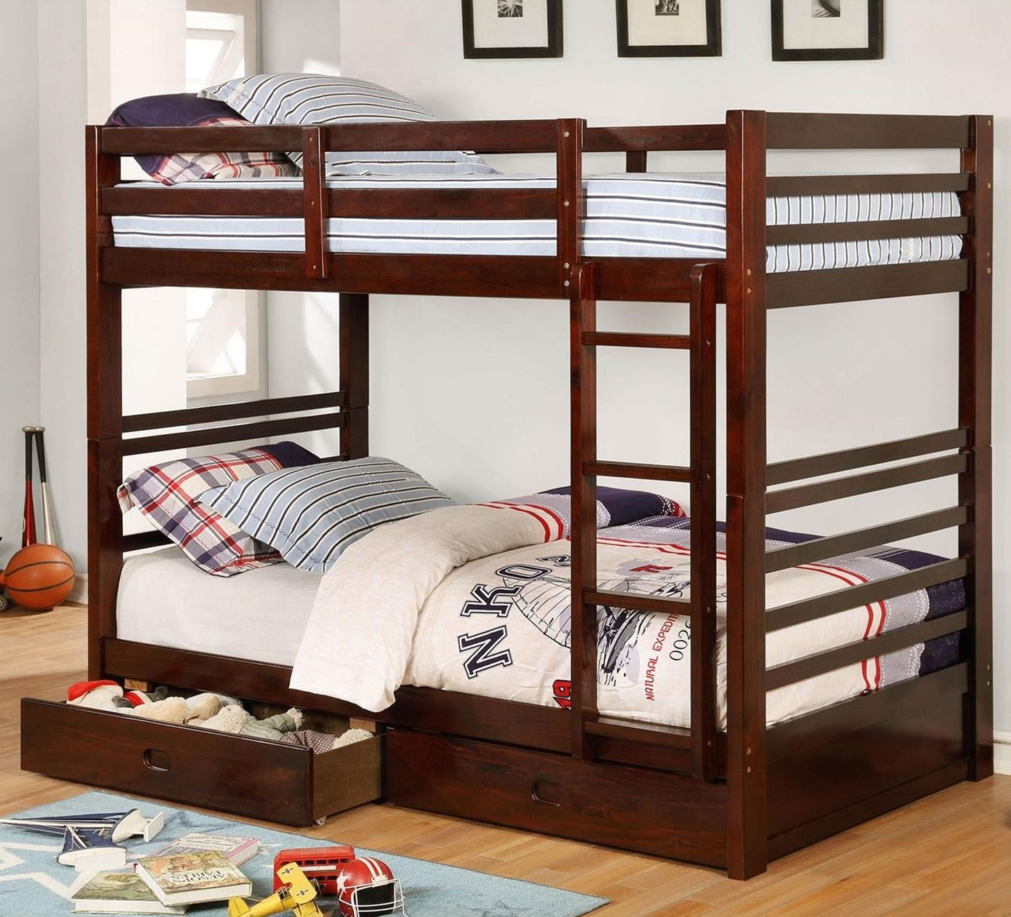 California IV Twin/Twin Bunk Bed by Furniture of America at Dream Home Interiors