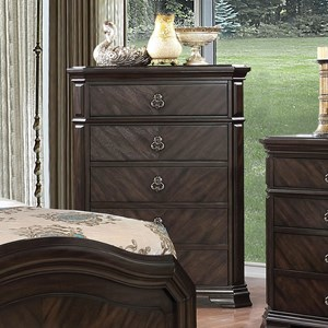 Traditional Chest with 5 Drawers