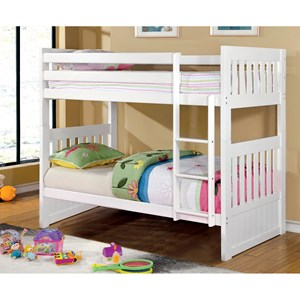 Mission Twin/Twin Bunk Bed