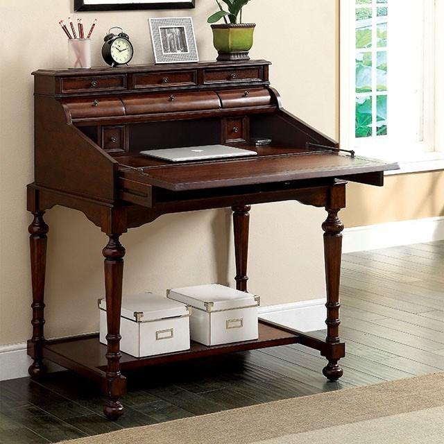 Canthus Secretary Desk by Furniture of America at Nassau Furniture and Mattress