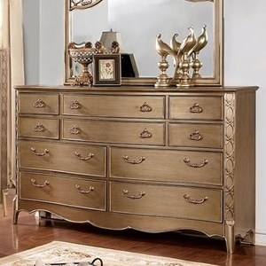 Glam Dresser with Ornate Carved Accents