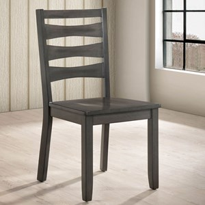 Set of 2 Ladder Back Side Chairs