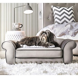 Traditional Pet Sofa with Rolled Arms
