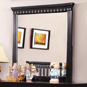 Transitional Mirror with Dentil Molding