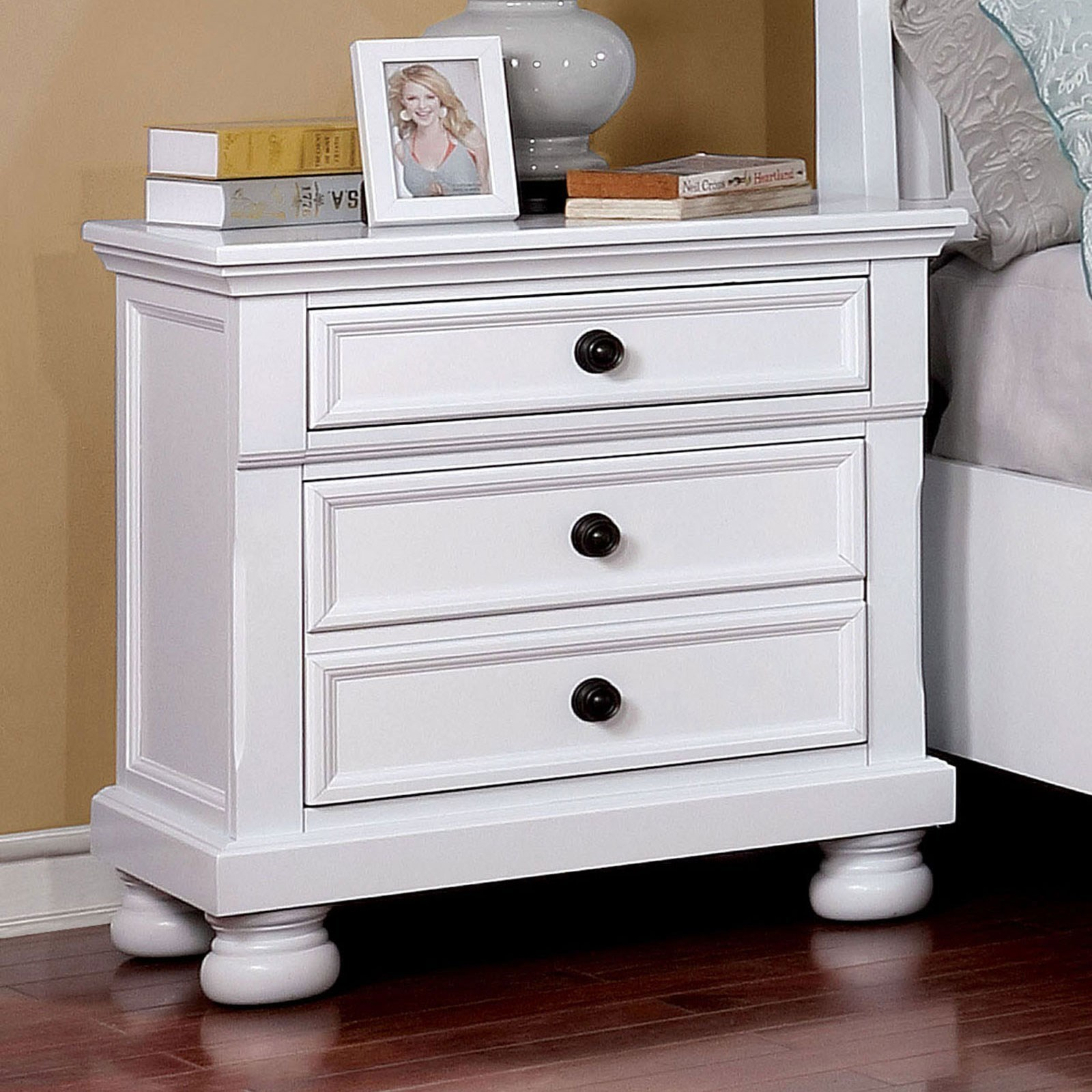 Castor Nightstand by Furniture of America at Nassau Furniture and Mattress