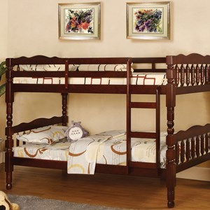 Traditional Twin Over Twin Youth Bunk Bed