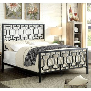 Contemporary California King Size Metal Lattice Bed