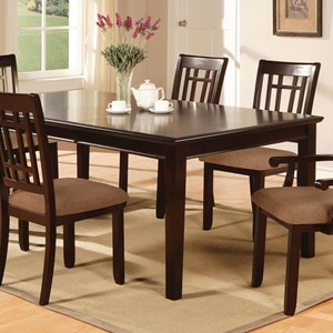 """Transitional 78"""" Rectangular Dining Table with 1 Table Leaf"""