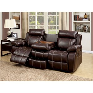 Reclining Loveseat with Storage Console Table