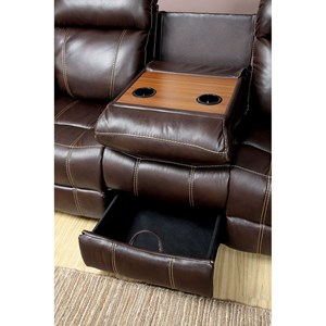 Reclining Sofa with Pillow Arms