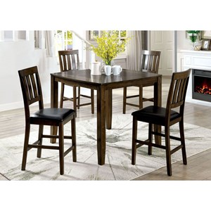 Casual 5 Piece Counter Height Dining Set